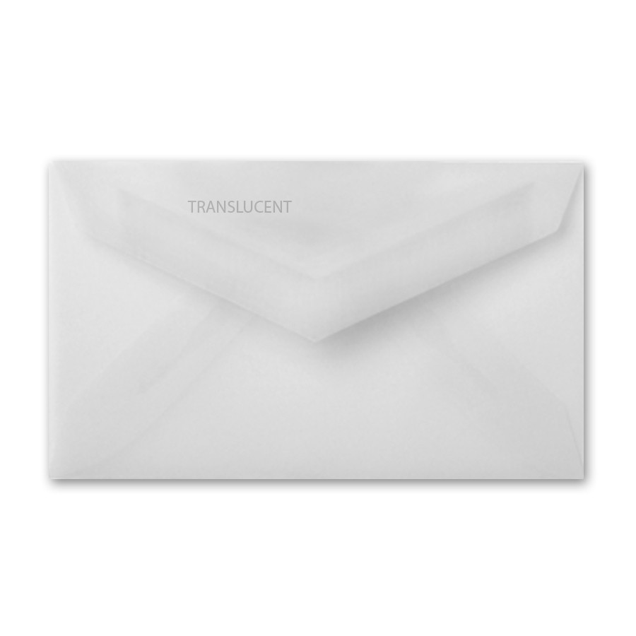Business Card Envelopes Converted With Clearfold Translucent Clear