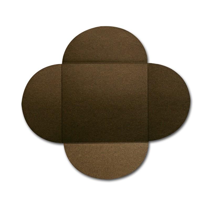 Gruppo Cordenons Stardream Bronze 6 1/4 Square 105# Cover Rounded Flap Pouchettes