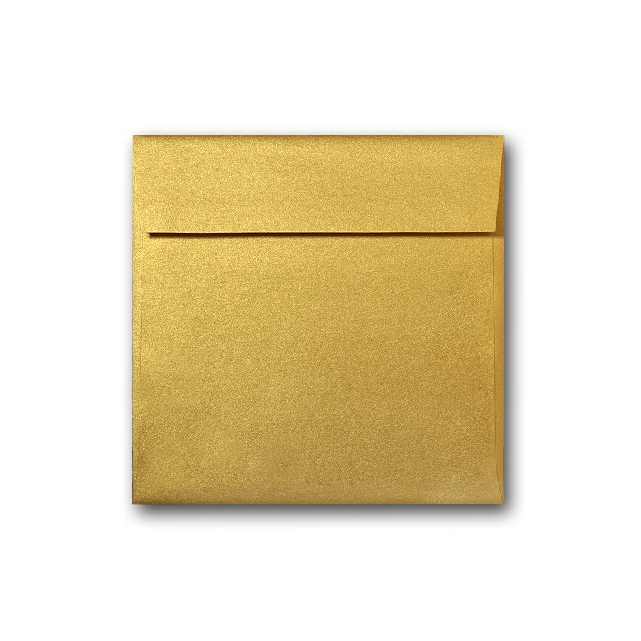 "7 1/2"" Square Envelopes Converted With Stardream Fine Gold 81# Text Pack of 50"