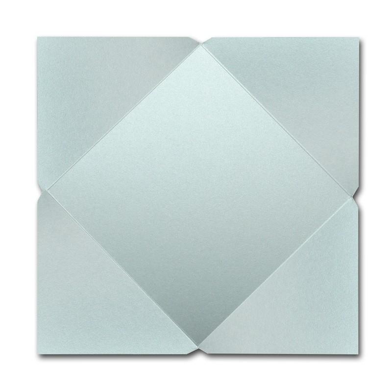 Gruppo Cordenons Stardream Aquamarine 7 1/4 Square 105# Cover Pointed Flap Pouchettes