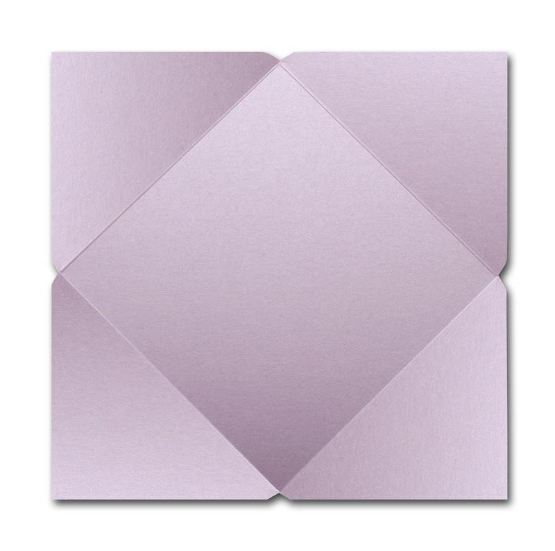 Gruppo Cordenons Stardream Kunzite 6 1/4 Square 105# Cover Pointed Flap Pouchettes