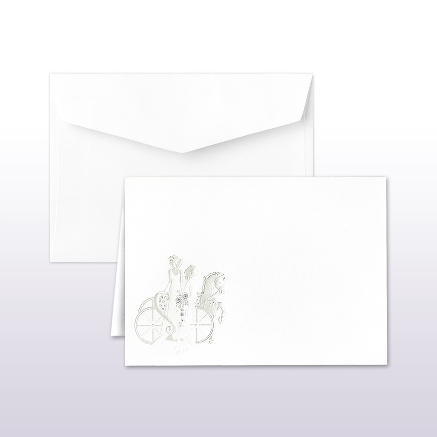 Passion And Pearl Printed/Stamped Bride And Groom With Carriage Informal