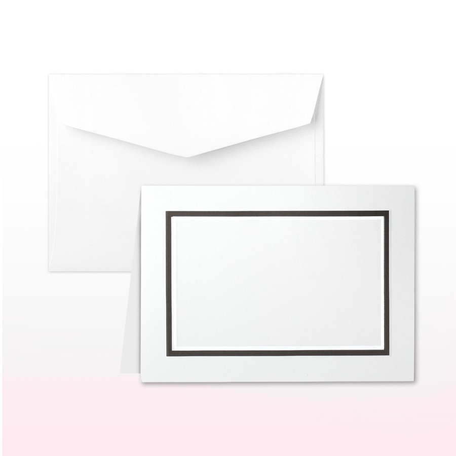 Black And Pearl Printed/Stamped Border Informal