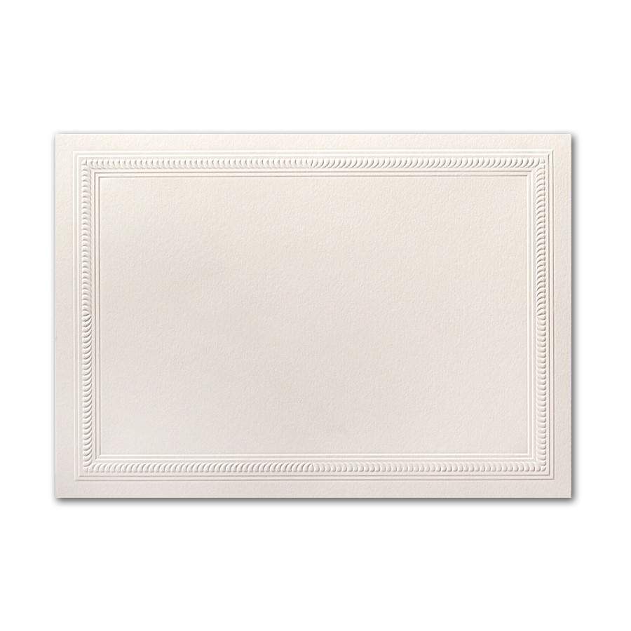Boutique Vellum Ecru Large Rope Border Card