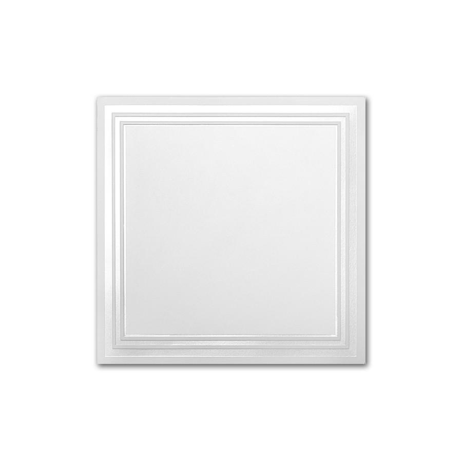 Boutique Vellum Super White 7 Square Conway Border Pearl Foil Card
