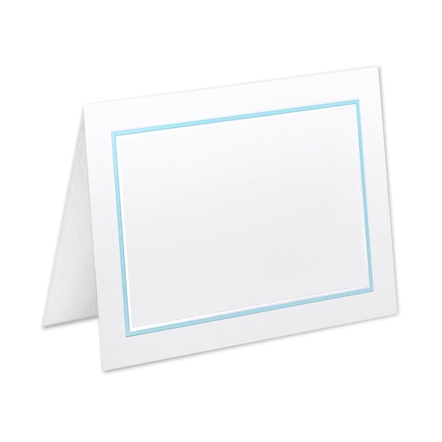 Boutique Vellum Super White 4 Bar Adelaide Border Pearl Foil/Tropical Blue Printed Folder