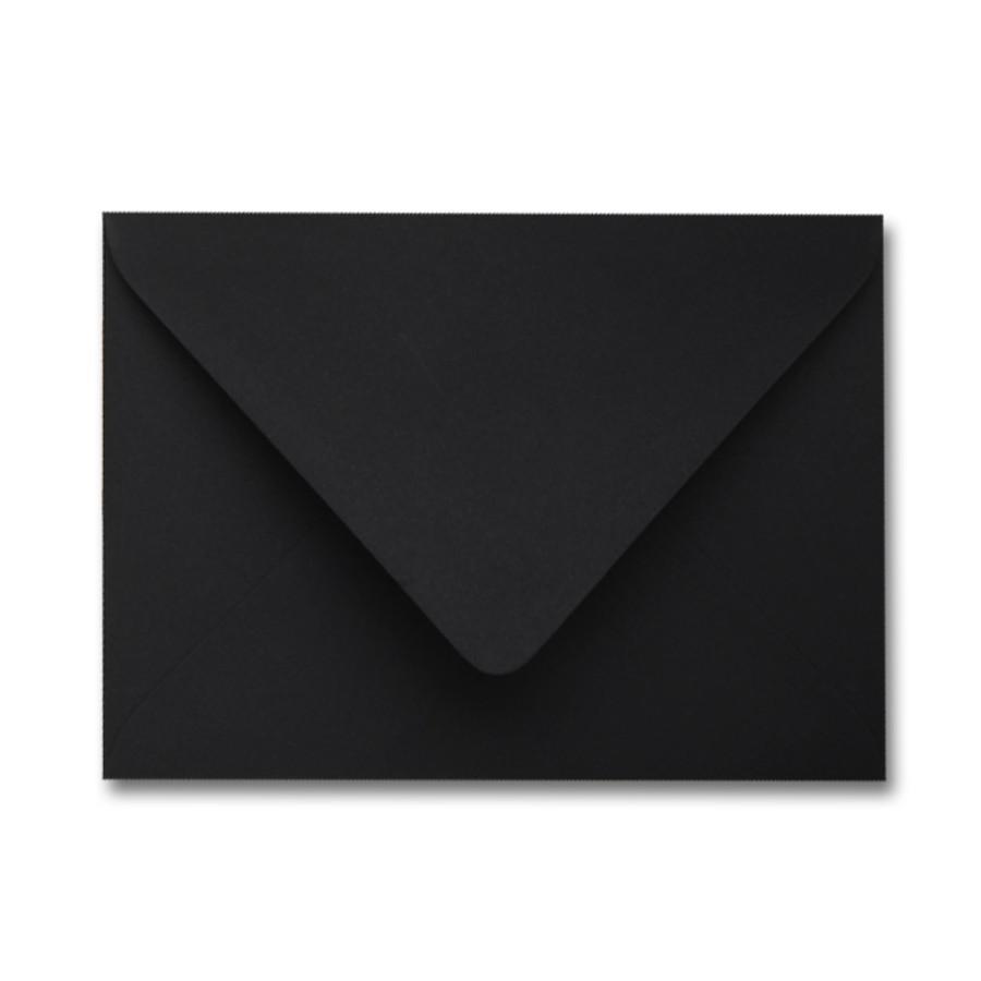 Colorplan Ebony Black 91# Text A7 Euro Flap Envelopes Pack of 50