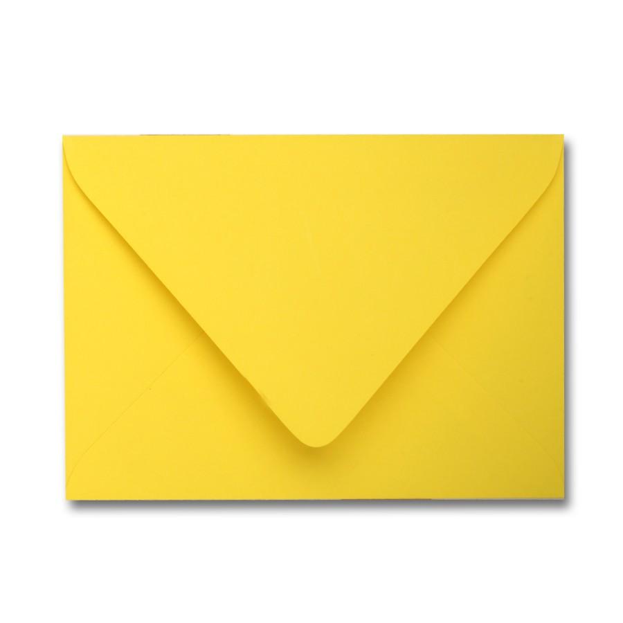 James Cropper Colorplan Factory Yellow A2 Euro Flap Envelope