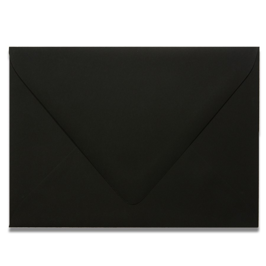 A7.5 Outer Euro Flap 78# Text Sirio Ultra Black Envelopes Pack of 50