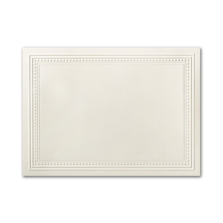 Neenah Classic Crest Classic Natural White A7 Imperial Embossed Border Card