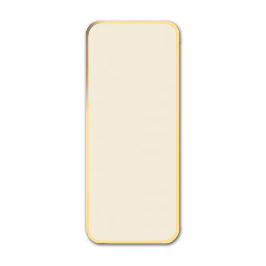 Neenah Classic Crest Classic Natural White #10 Royal Border Gold Foil Card