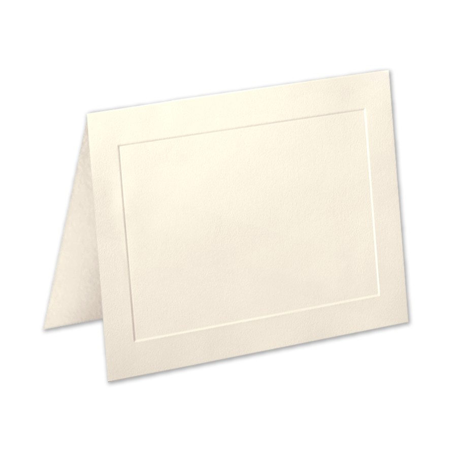 Neenah Classic Crest Classic Natural White A6 Panel Folder