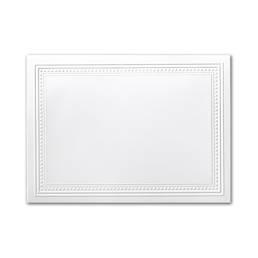 Neenah Classic Crest Solar White A7 Imperial Embossed Border Card