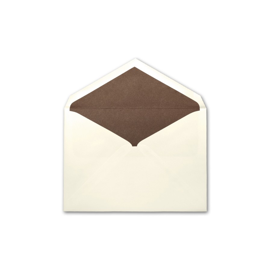Boutique Vellum Ecru Large Matte Chocolate Lined Envelope