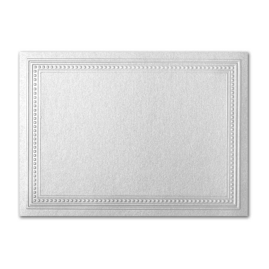 Gruppo Cordenons Stardream Silver A7 Imperial Embossed Border Card