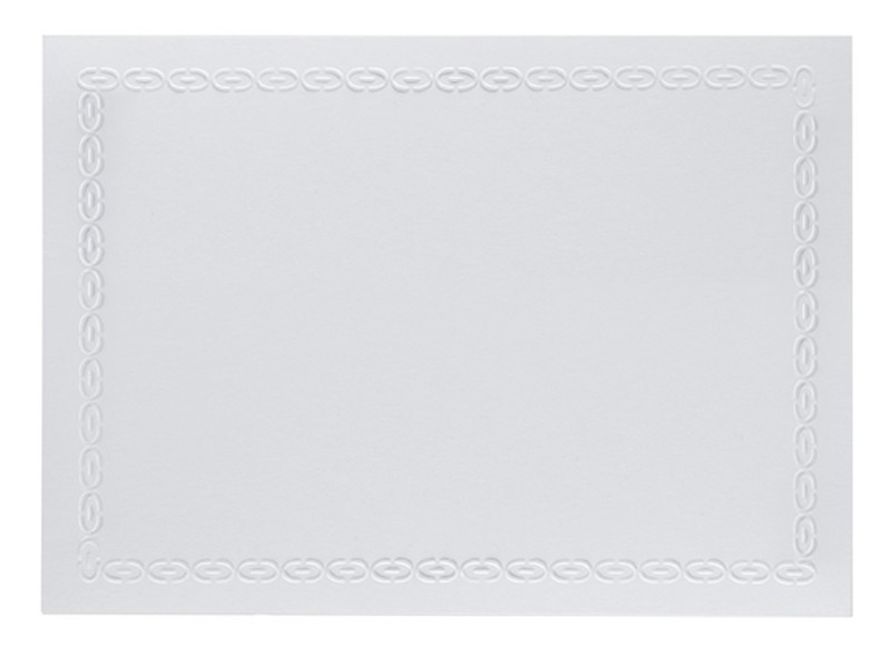 Environment 80# Cover Ultra Bright White A7 Chain Border Cards Pack of 50
