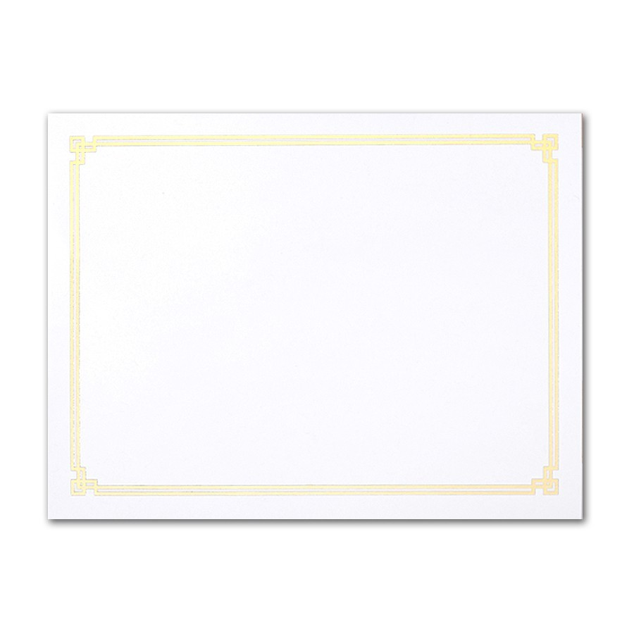Neenah Environment Ultra Bright White A2 Greco Border Gold Foil Card