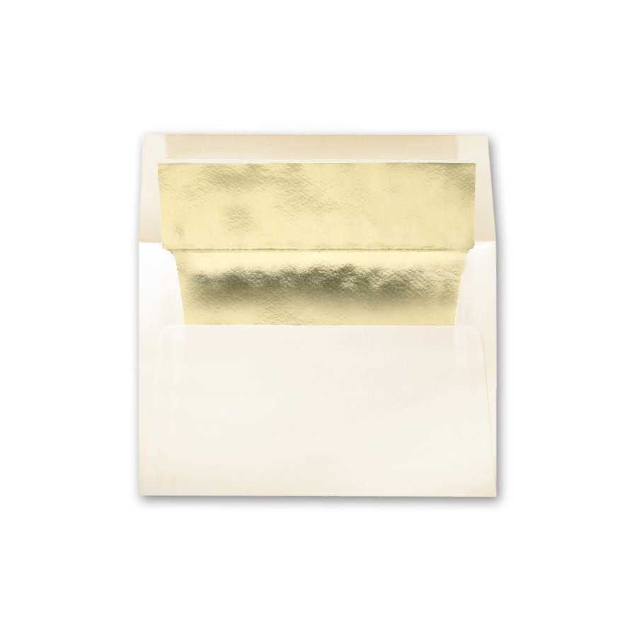 Neenah Classic Crest Classic Natural White A7 Gold Foil Lined Envelope