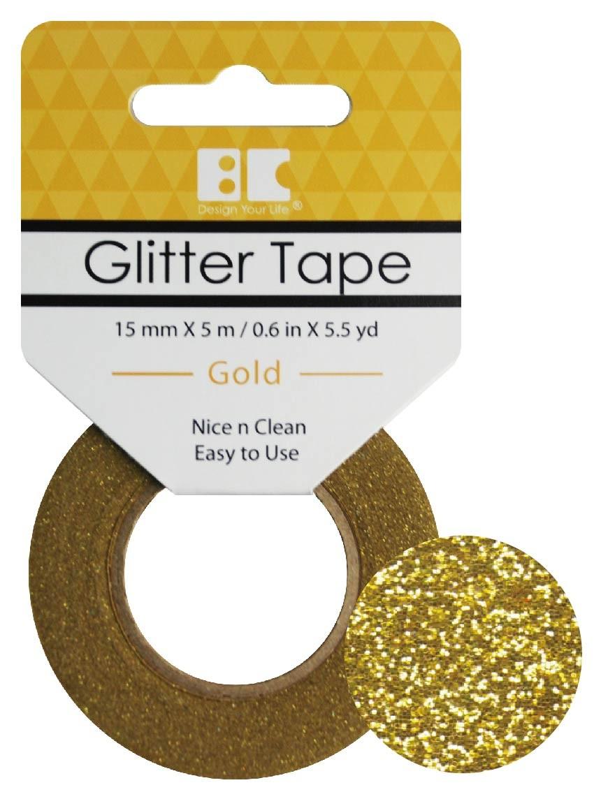 Glitter Tape Gold 15mm x 5m  Roll