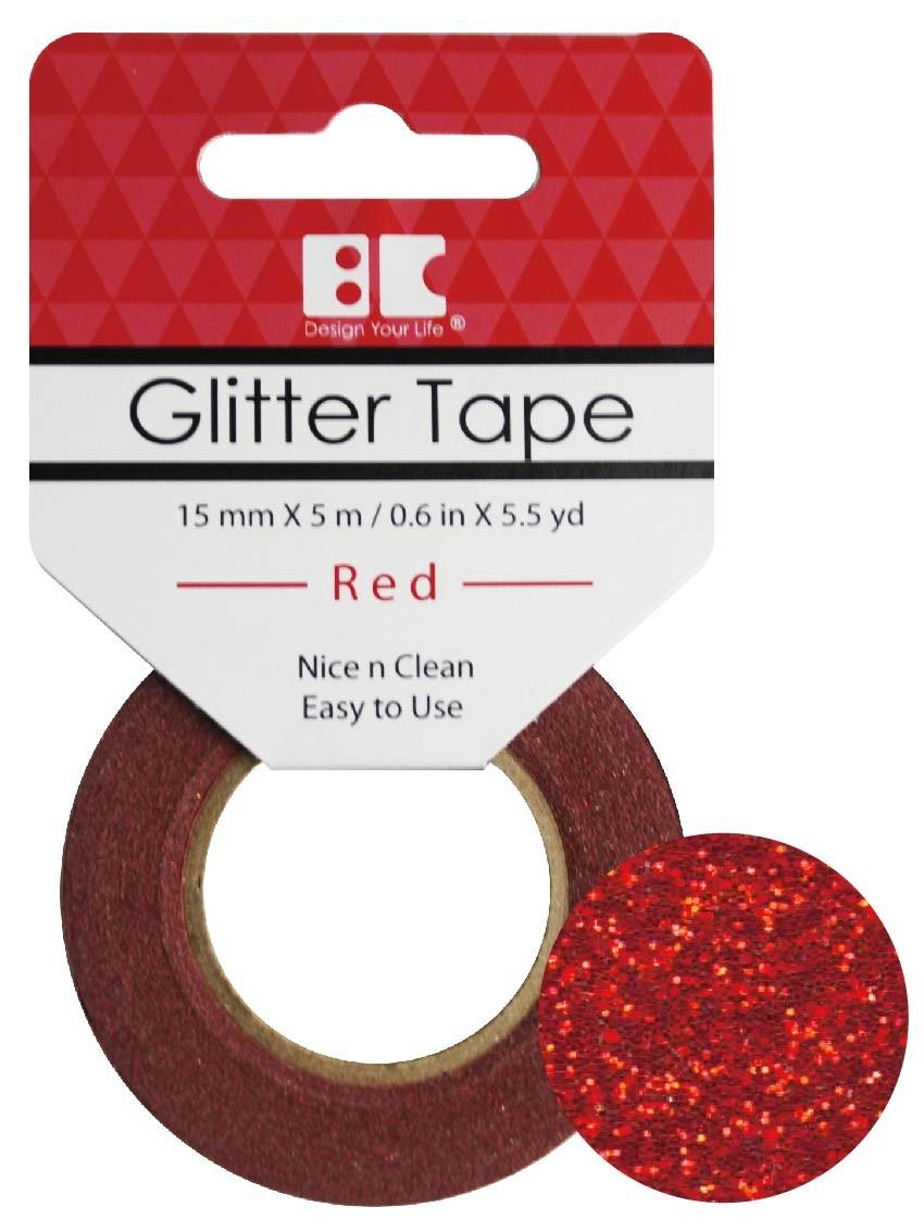 Glitter Tape Red 15mm x 5m  Roll