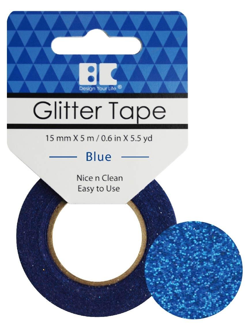 Glitter Tape Blue 15mm x 5m  Roll