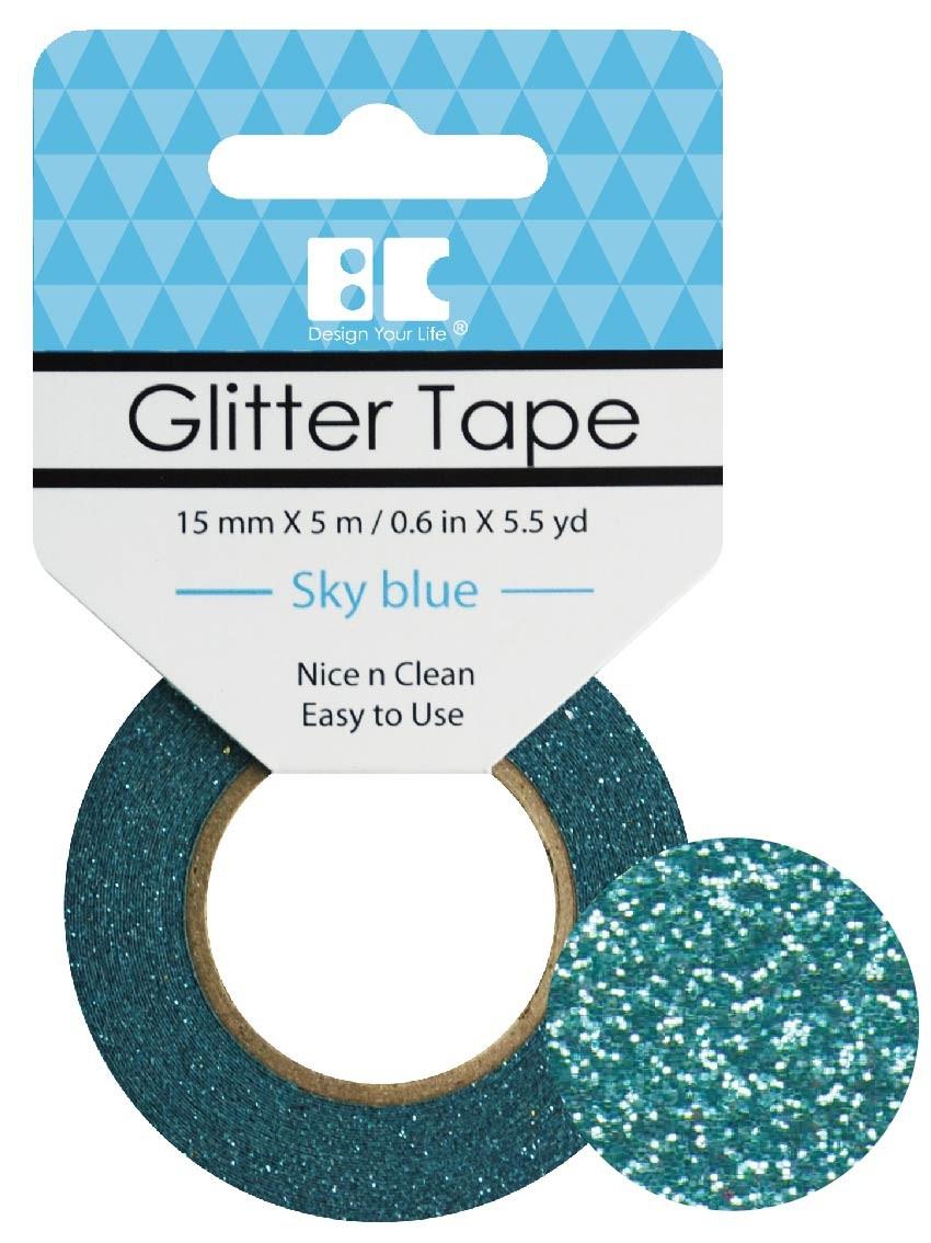 Glitter Tape Sky Blue 15mm x 5m  Roll