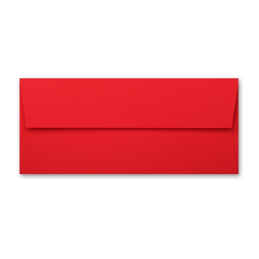Gruppo Cordenons Plike Red #10 Square Flap Envelope