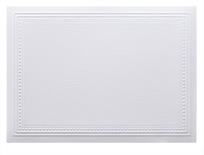 Classic Linen 80# Cover Avon Brilliant White A2 Imperial Embossed Border Cards Pack of 50