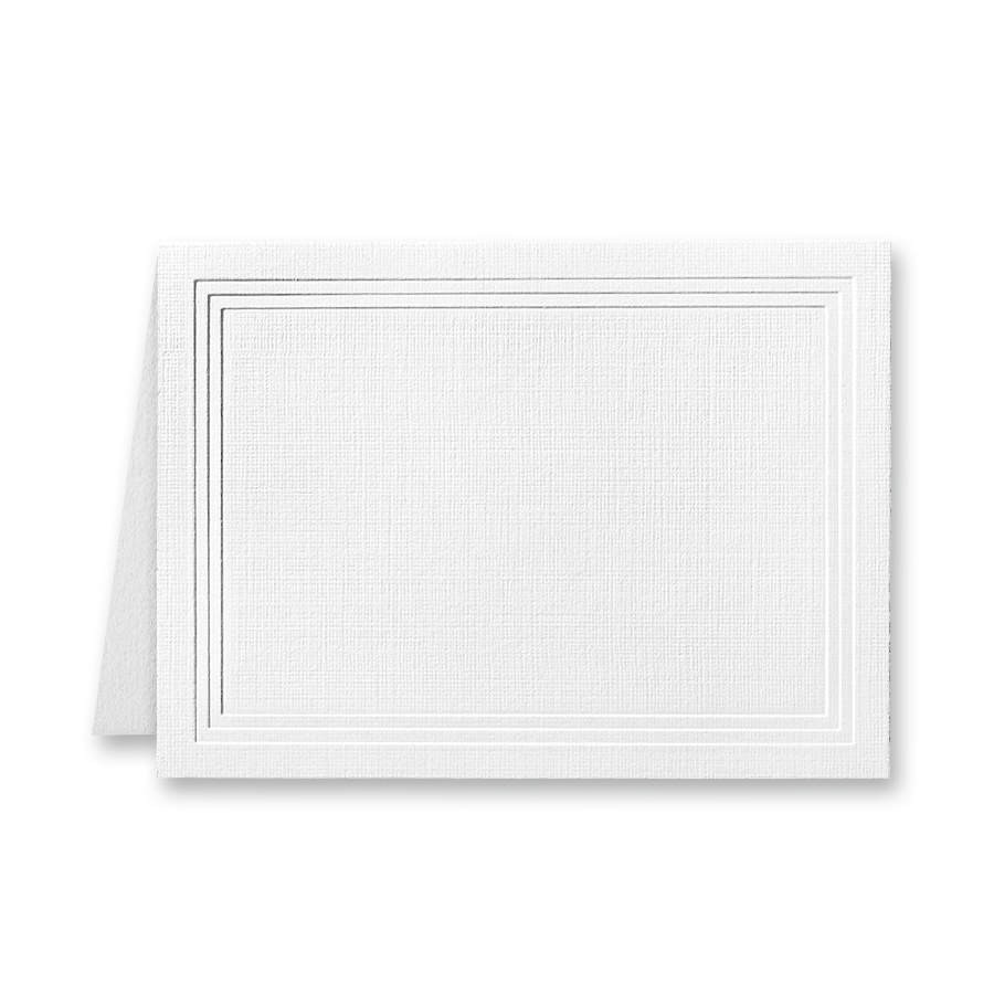 Classic Linen Avon Brilliant White Escort/Enclosure Triple Panel Folder