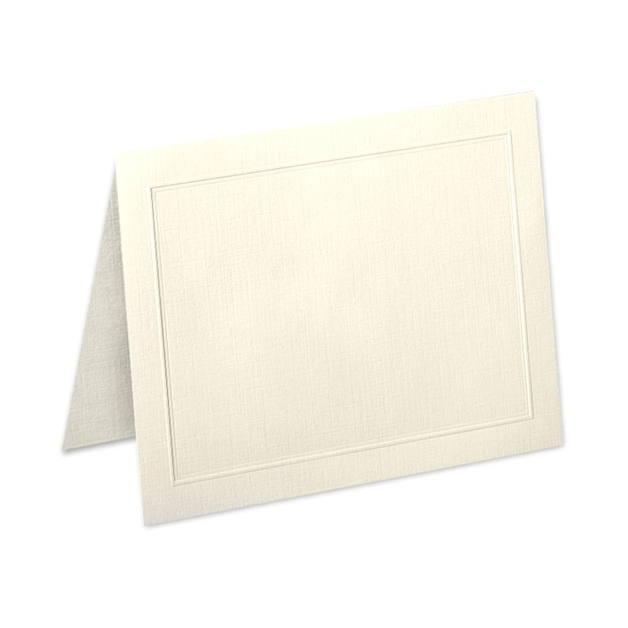 Neenah Classic Linen Baronial Ivory A2 Duke Border Folder