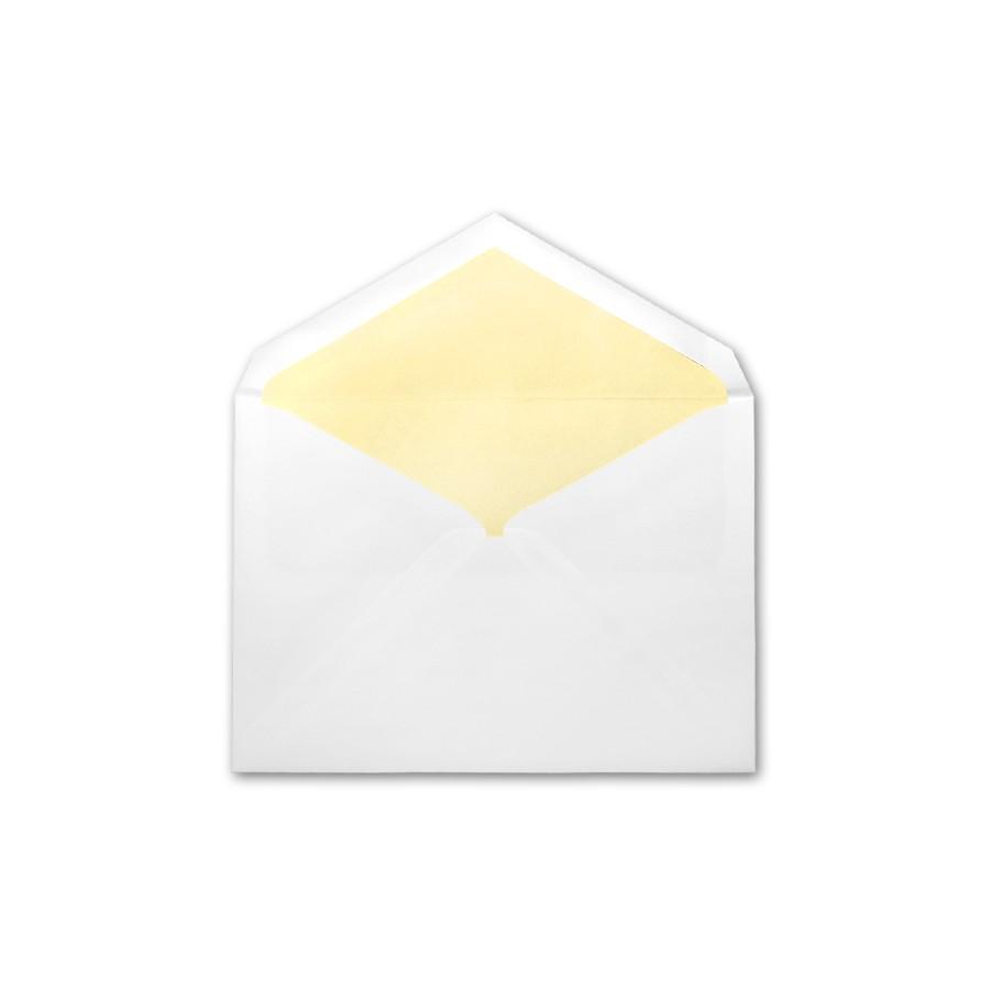 Boutique Vellum Super White Large Matte Lemon Lined Envelope