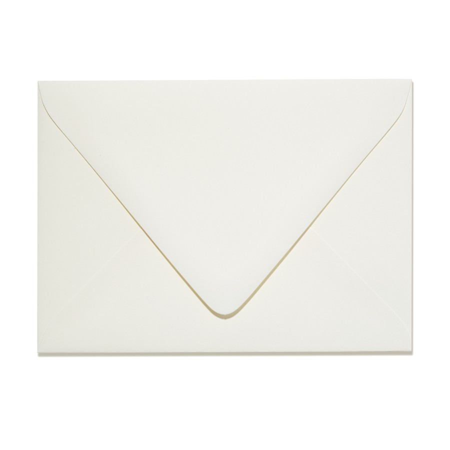 A9 Inner Ungummed Euro Flap 32# Writing Crane's Lettra Pearl White Envelopes Box of 250