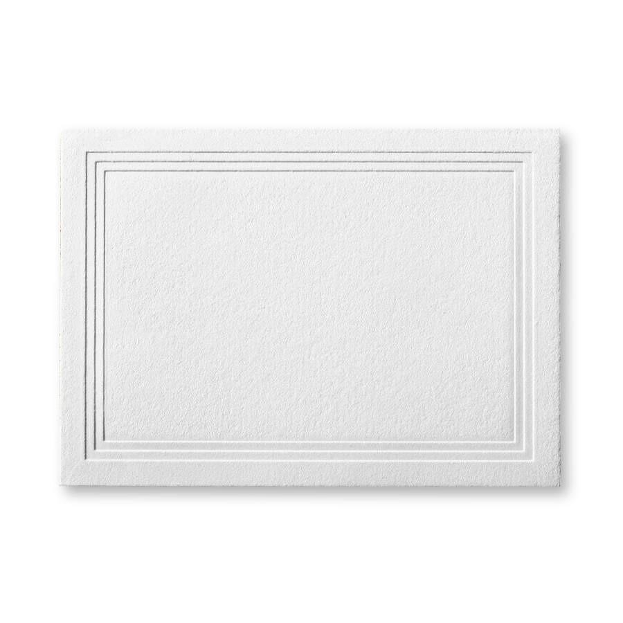 Gmund Cotton Linen Cream Escort/Enclosure Triple Panel Card