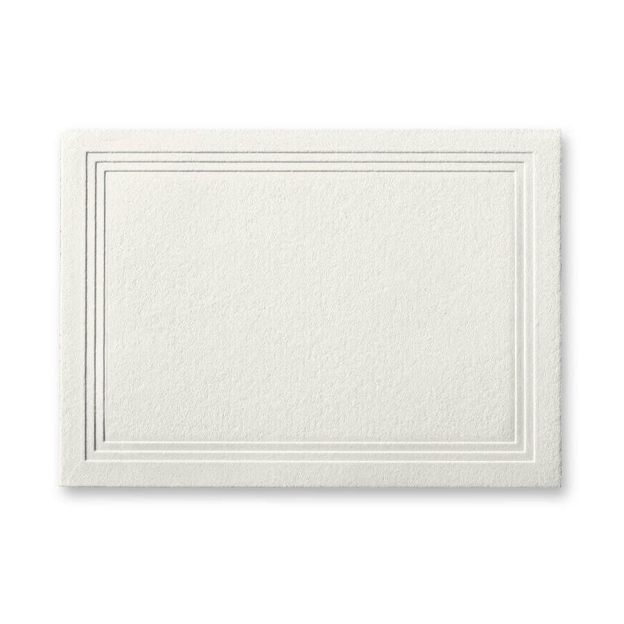 Gmund Savanna Blanco Matt Escort/Enclosure Triple Panel Card