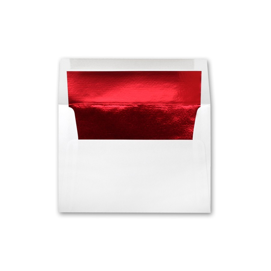 white wove a2 red foil lined 24 writing envelopes bulk pack of 250