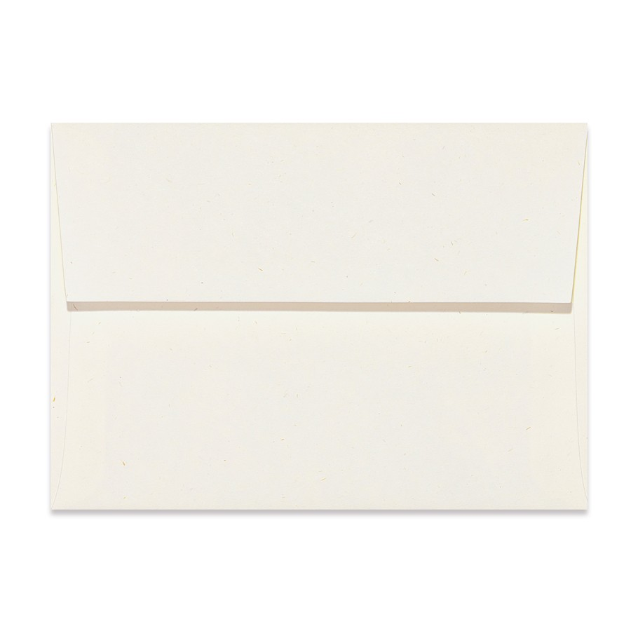 A1 (4 Bar Square Flap) 80# Text Mohawk Renewal Hemp Fiber White Rough Finish Envelopes Pack of 50