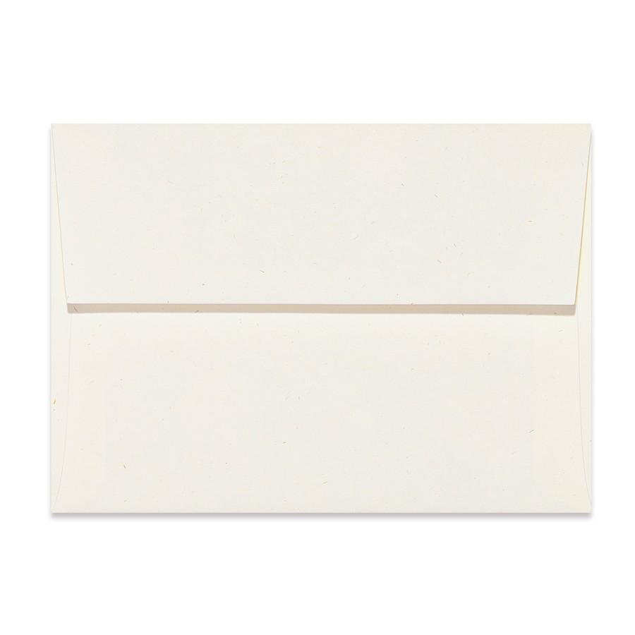 A2 Square Flap 80# Text Mohawk Renewal Hemp Fiber White Rough Finish Envelopes Pack of 50