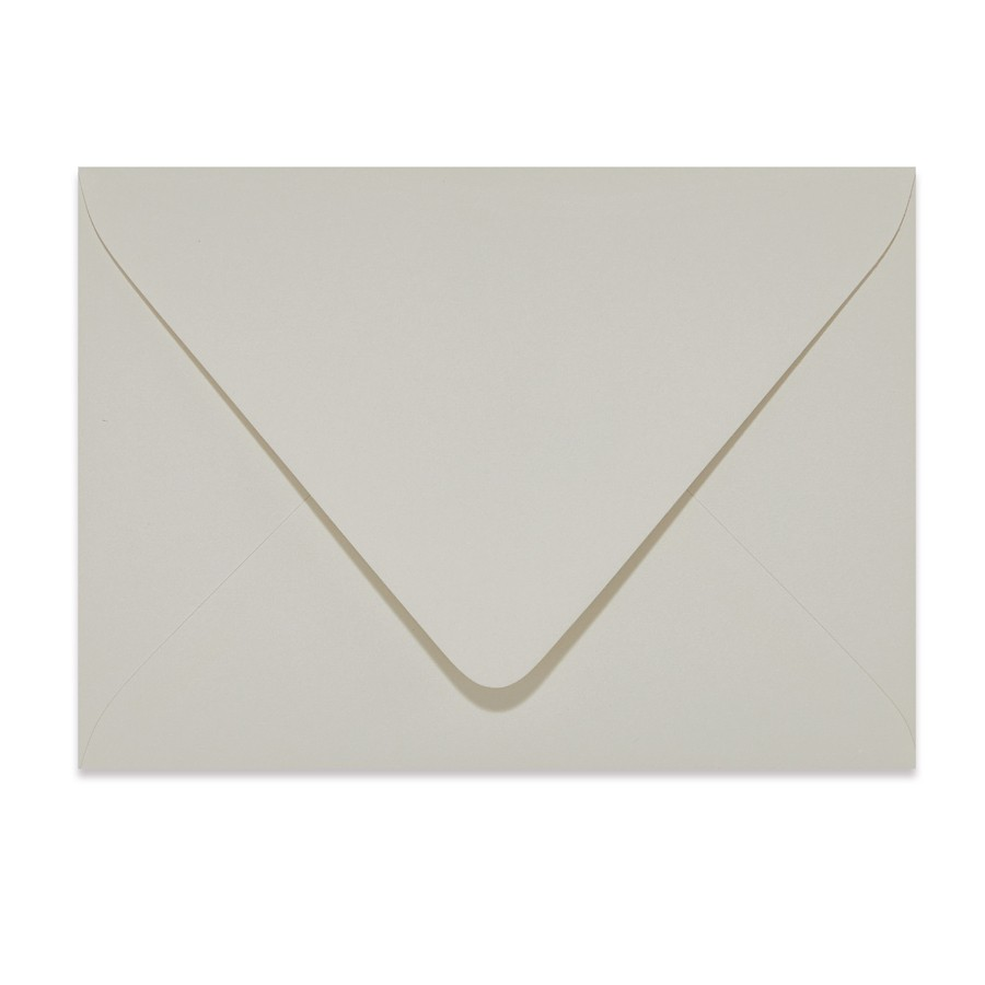 A7.5 Outer Euro Flap 32# Writing Crane's Lettra Light Gray Envelopes Pack of 50
