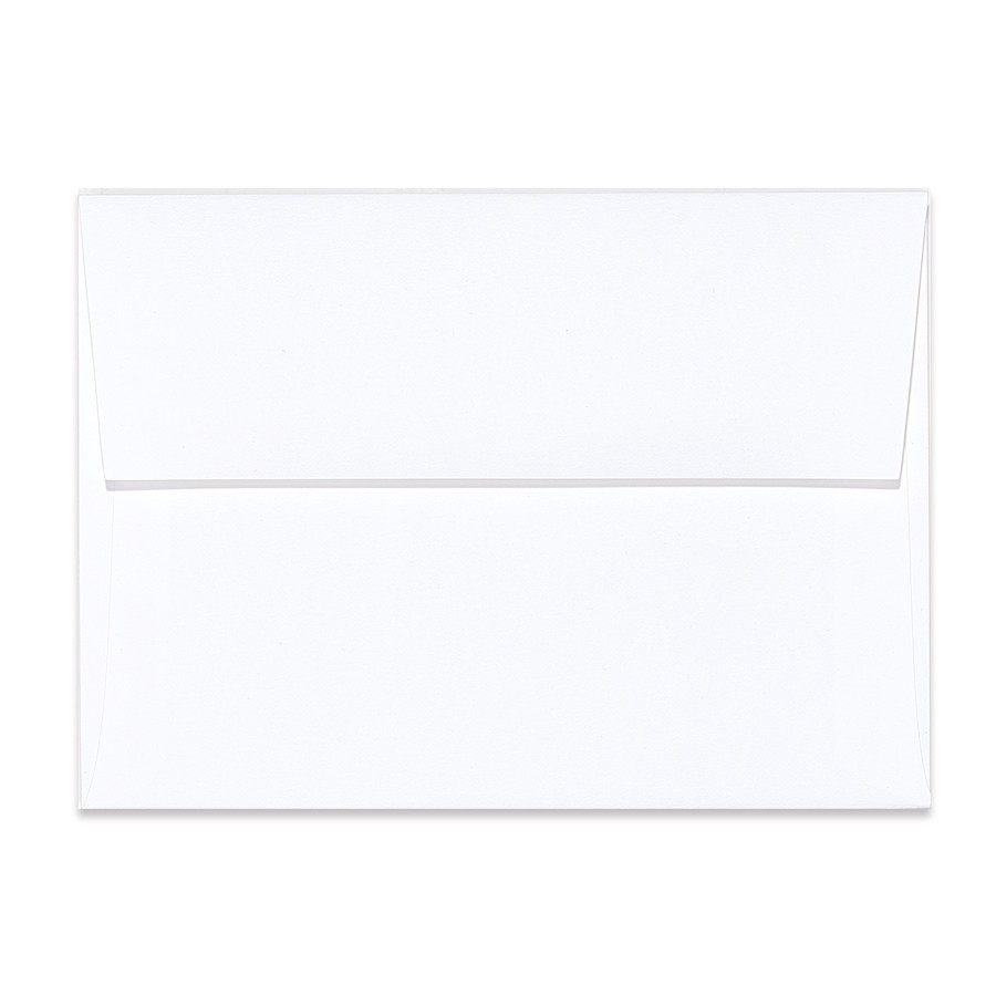 A2 Square Flap 80# Text Mohawk Renewal Hemp Clean White Rough Finish Envelopes Pack of 50