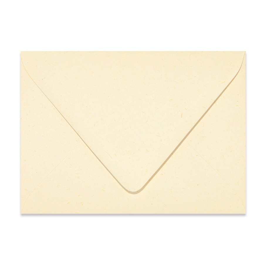 4 Bar Euro Flap 80# Text Mohawk Renewal Straw Harvest White Rough Finish Envelopes Box of 250
