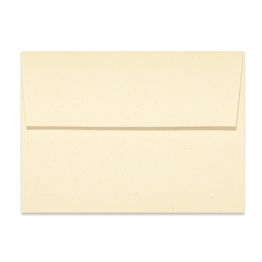 A1 (4 Bar Square Flap) 80# Text Mohawk Renewal Straw Harvest White Rough Finish Envelopes Pack of 50