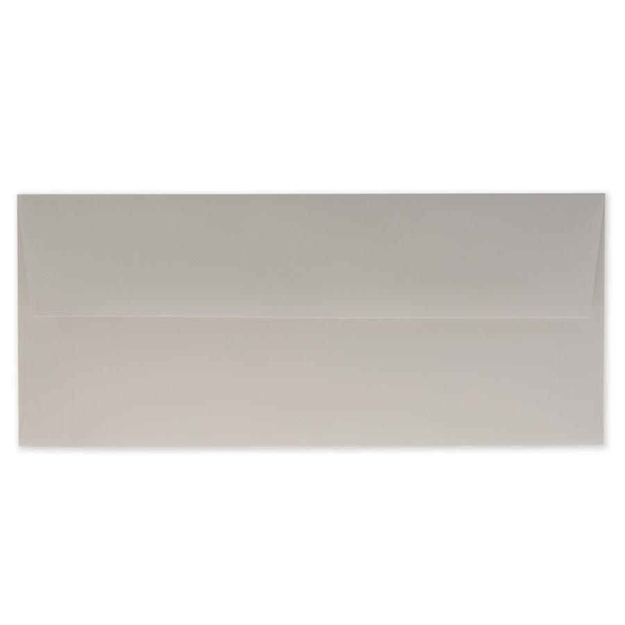 Mohawk Via Light Gray #10 Square Flap Envelopes pack of 50