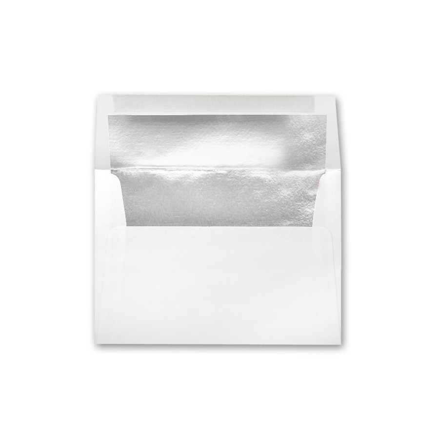Premium Vellum Ultra White A8 Silver Foil Lined Envelope