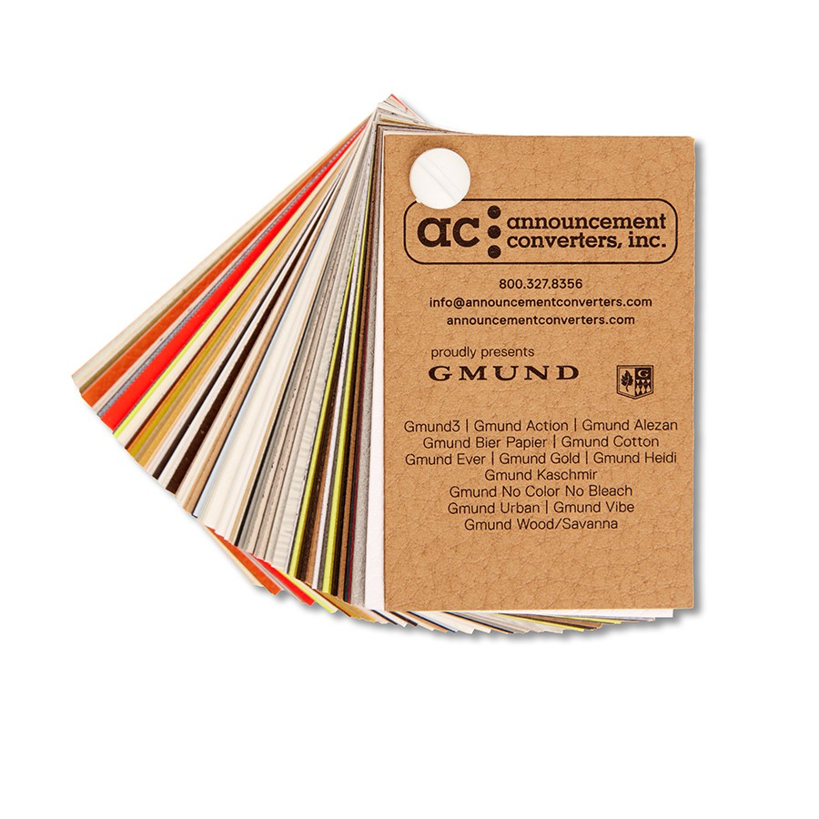 Announcement Converters Gmund Paper Collection Swatch Book