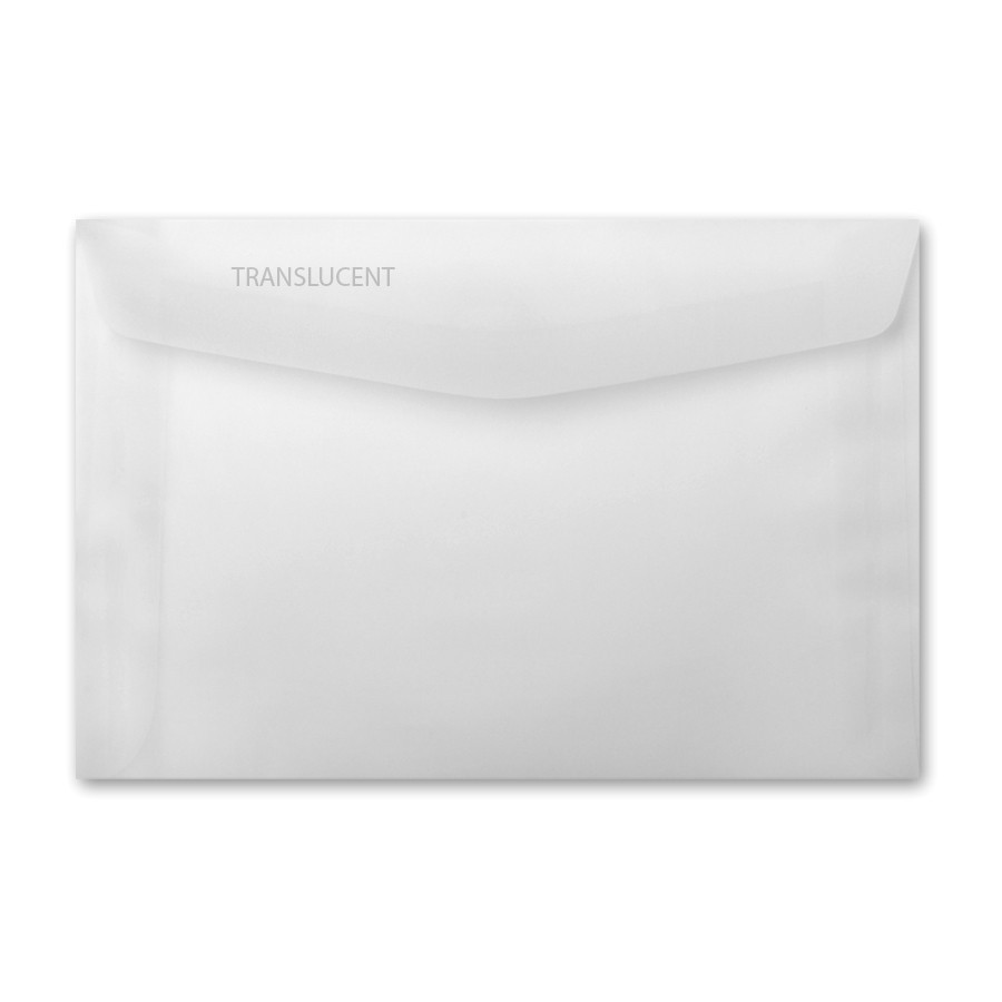 Neenah Clearfold Clear Translucent (frosted) 6 x 9 Booklet Envelope