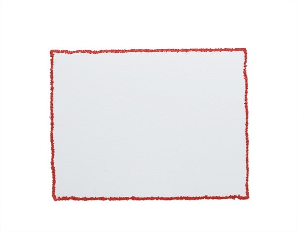 Premium Vellum 100# Cover Ultra White A2 Deckle Edge Border Red Printing Cards Pack of 50
