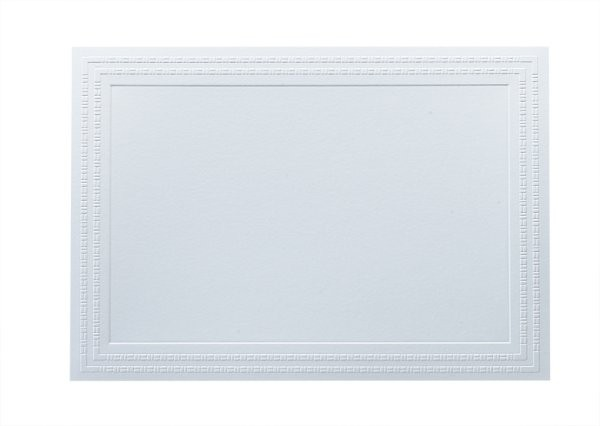 Boutique Vellum 125# Cover Super White Large Bamboo Border Cards Pack of 50