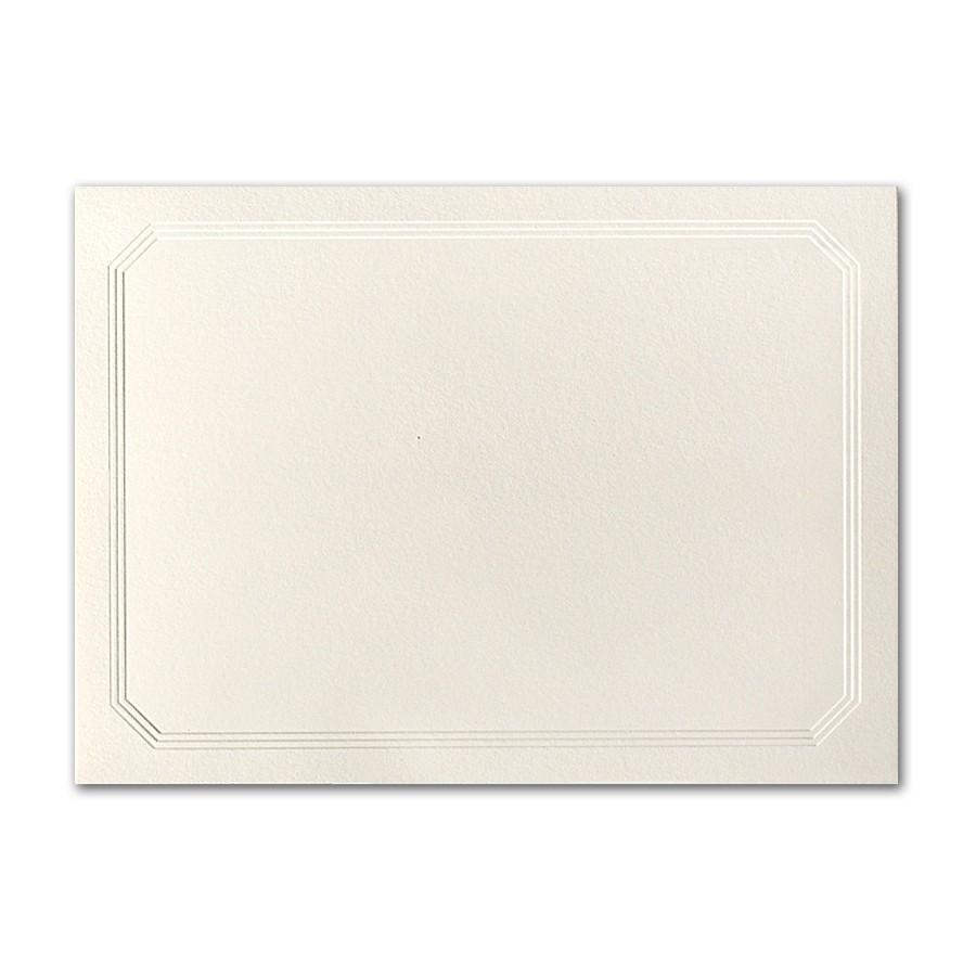 Premium Vellum 100# Cover Ecru A2 Ultra Frame Border Cards Pack of 50