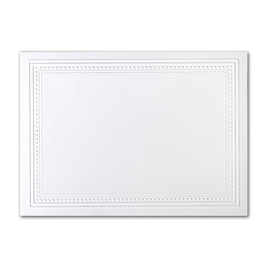 Premium Vellum Ultra White A7 Imperial Embossed Border Card