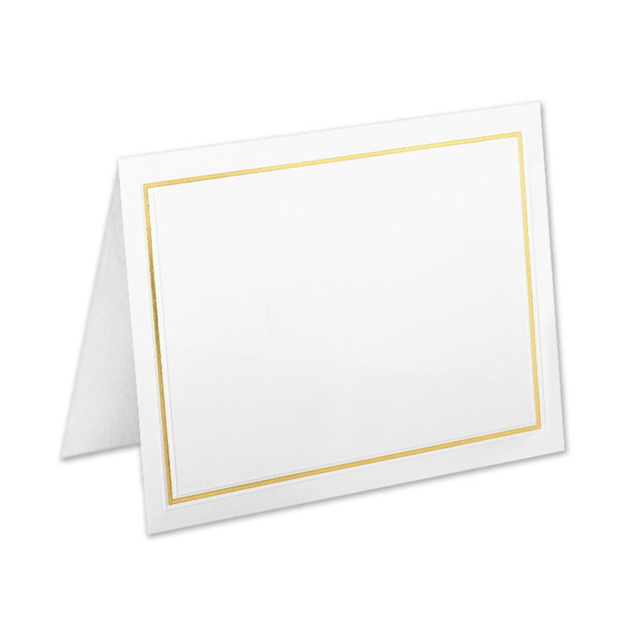 Premium Vellum Ultra White Giant Yale Border Gold Foil Folder